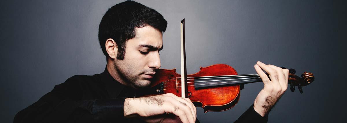 Close up advanced violinist