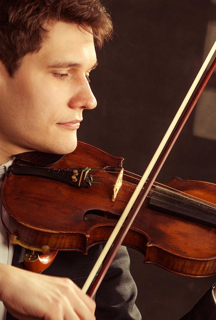 Silver violin lesson gift voucher